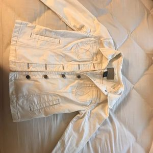 Calvin Klein Vintage White Denim Jacket